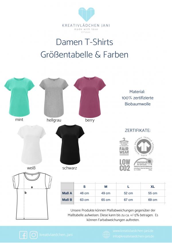 Damen T-Shirt Größen