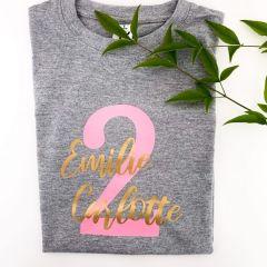 T-Shirt Geburtstag Zahl - personalisiert