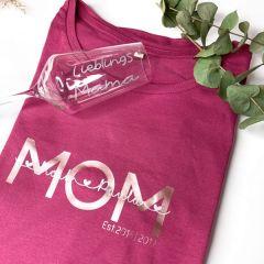 Statement Shirt Mama mit Kindernamen