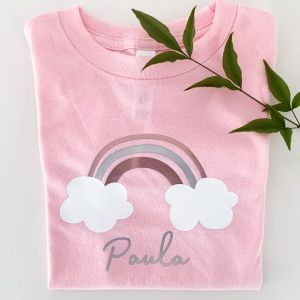 T-Shirt Regenbogen mit Name personalisiert