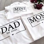 3er Set T-Shirt Jahreszahlen MOM DAD MINI