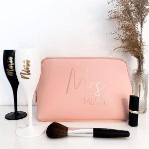 personalisierte Kosmetiktasche Mrs Mr mit Nachname