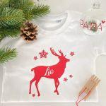 T-Shirt Rentier Weihnachten Kind
