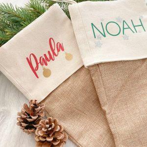 personalisierter Nikolausstrumpf mit Namen