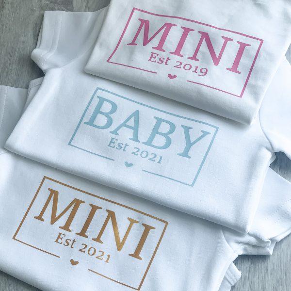 T-Shirt Mini Jahreszahl