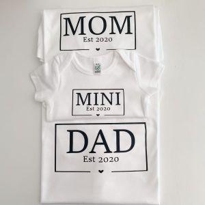 T-Shirt 4er Set Familie Jahreszahl