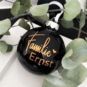 Weihnachtskugel Glas Familie - personalisiert