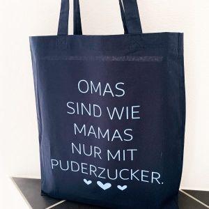 Stofftasche Omas sind wie Mamas nur mit Puderzucker