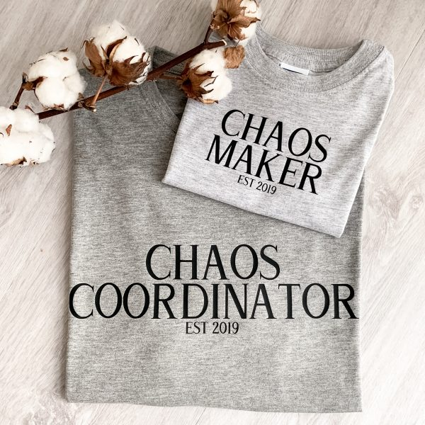 T-Shirt 2er Set Vater Sohn Chaos EST