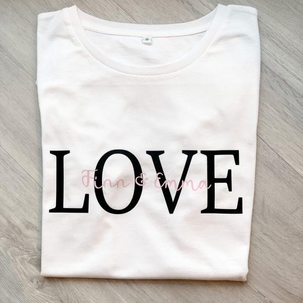 T-Shirt LOVE personalisiert