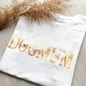 T-Shirt DOGMUM mit Name