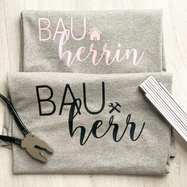 T-Shirt 2er Set Bauherr Bauherrin