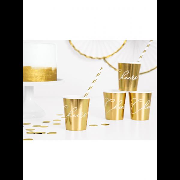 Pappbecher Gold - Cheers