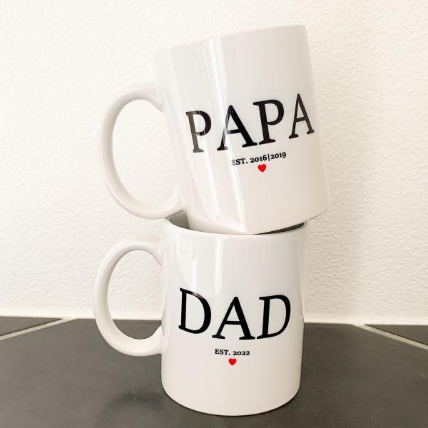 Tasse - PAPA oder DAD Est.