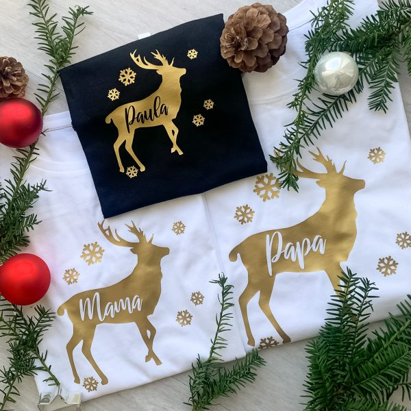T-Shirt 3er Familienset Weihnachten