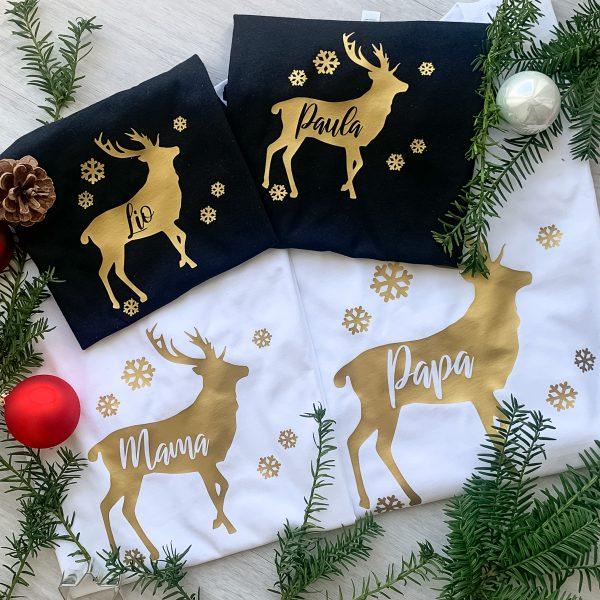 T-Shirt 4er Familienset Weihnachten