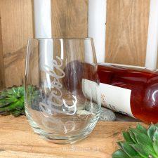 Stemless Weinglas personalisiert